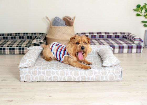 クッション付きベッドカバー:エルモ|犬のベッド:アンベルソ