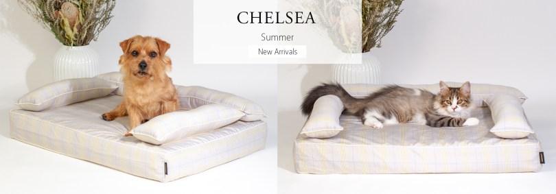 あご乗せクッション付きカバー:チェルシー(ベージュ)|犬のベッド:アンベルソ