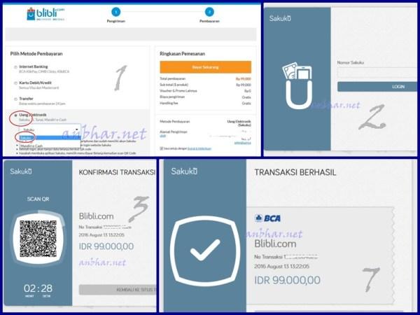 Tampilan transaksi melalui desktop (PC)