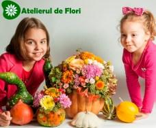 Ioana si stefania  bostani cu flori