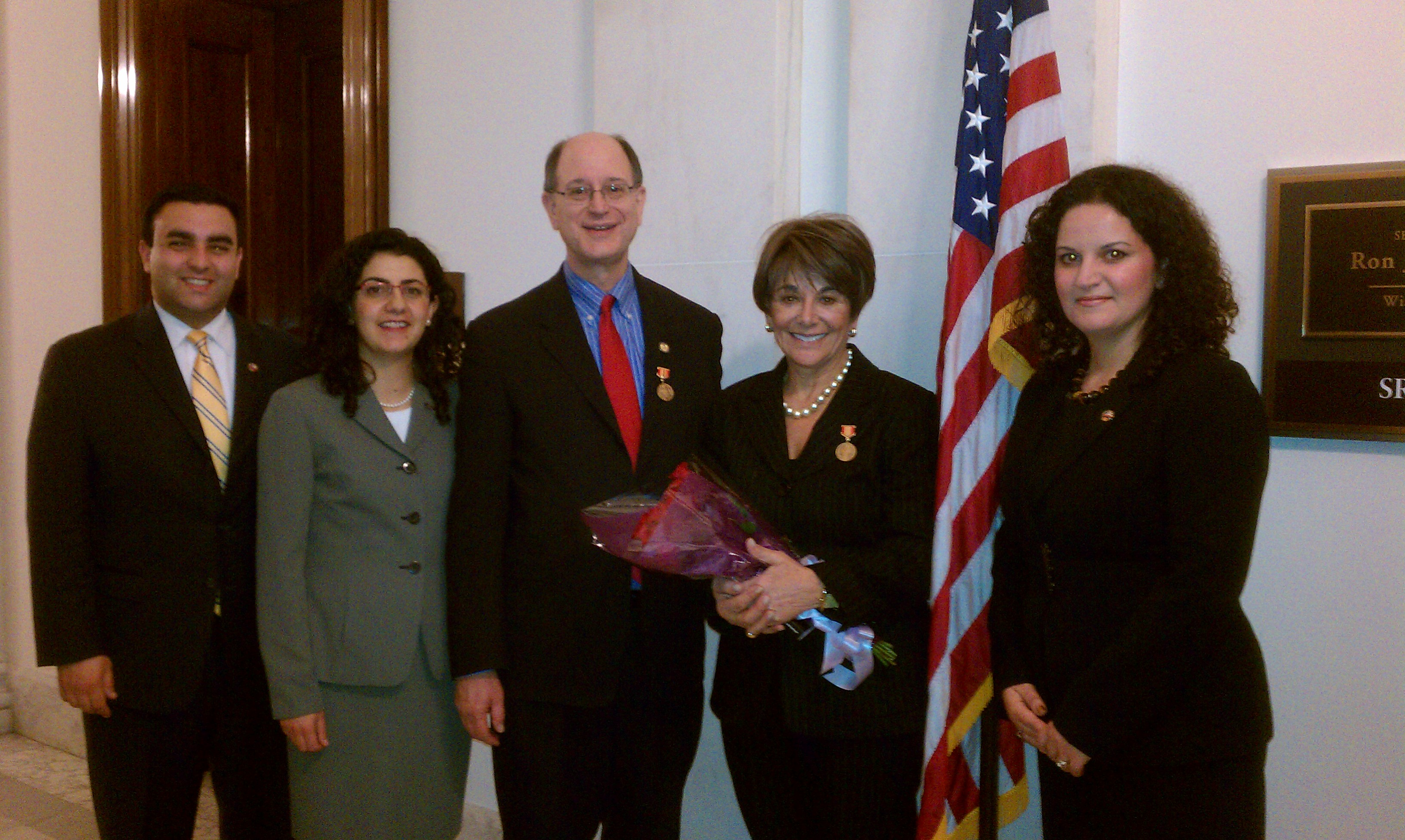 Members of UScongress with ANCA reps NKR celebrations inWashington