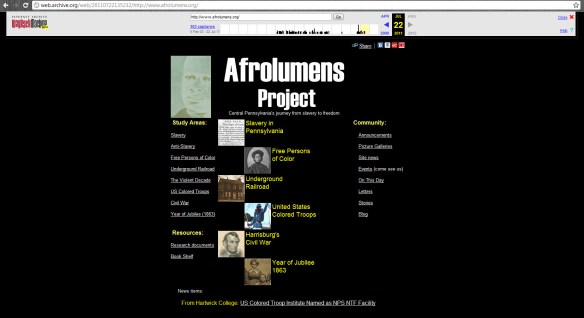 Cached page for the Afrolumens Project