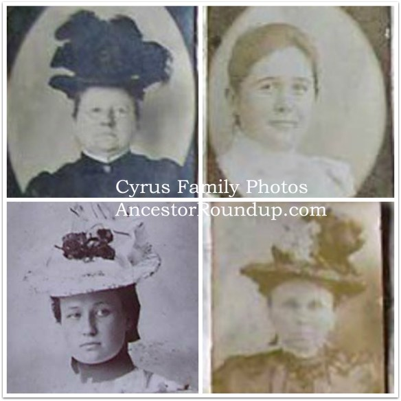 cyrus family photo collage