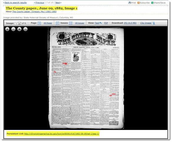 The County Paper (Oregon, Mo.), 09 Jun 1882, p. 1