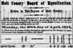 1875 Holt County, Missouri taxpayers