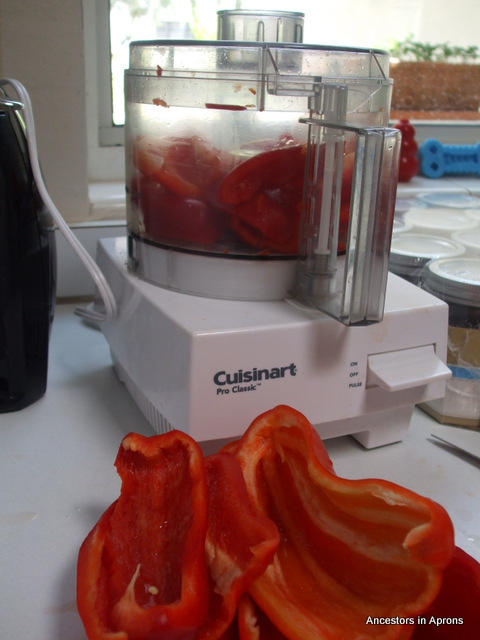 Red Pepper ready for chopping