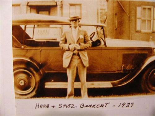 Herbert Anderson with Stutz Bearcat 1927