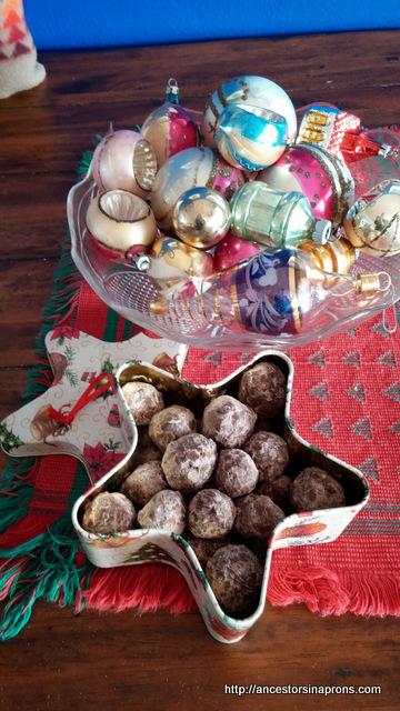Bourbon balls in star box
