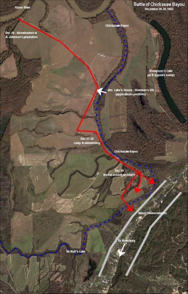 Civil War terrain of Chickasaw Bluffs battle
