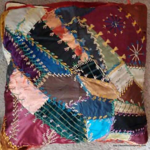 crazy quilt pillow