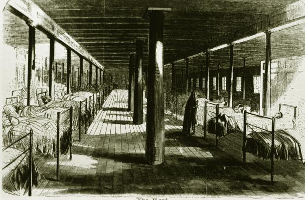 Interior of Red Rover hospital ship