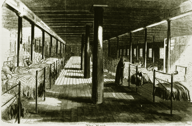 Interior of Red Rover hospital ship