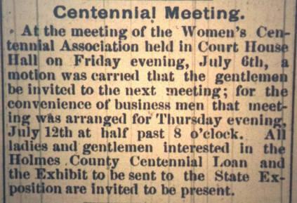 Holmes County Farmer article