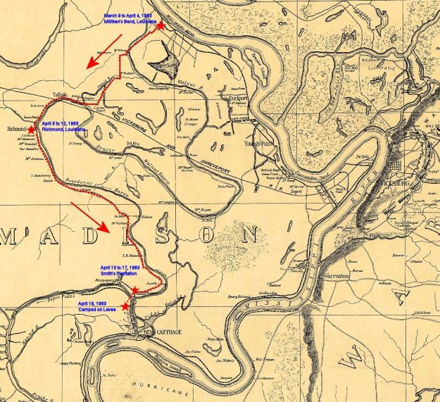 On the march to Vicksburg