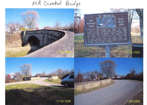 The Old Crooked Bridge on National Highway, Guernsey County. Pictures by Larry and Judy Anderson