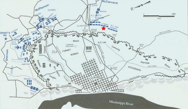 Vicksburg Battle Map
