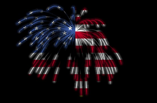 American Independence Day Fireworks