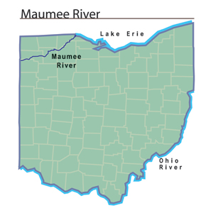 Maumee River map