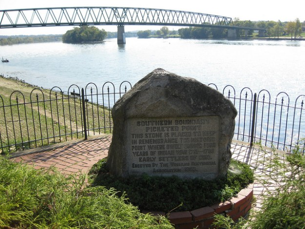 Picketed Point, reminder of the Indian Wars along the Ohio River 1791-1796 Photo by Photo by Richie Diesterheft, Flickr.