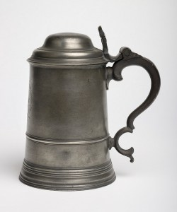 Pewter tankard for hot buttered rum