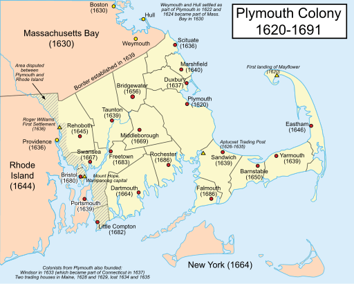 Plymouth Colony map