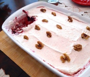 Agnes Badertscher's Cranberry Jell-o Salad