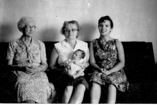 Great Grandma Vera Anderson, Grandma Harriette Kaser, Mother Vera Marie Badertscher, Michael Alan Badertscher