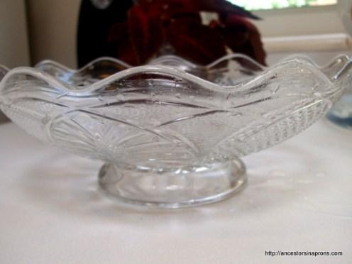 Heirloom glass bowl