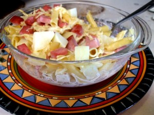 Swiss Macaroni with Applesauce