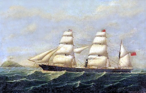 Steam-sail ship