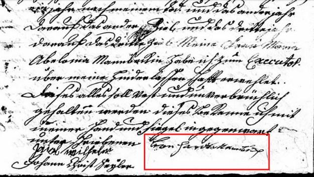 Leonard Manbeck signature
