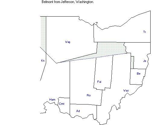 County Map of Ohio 1801