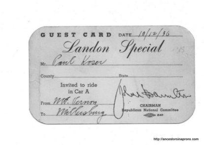 Landon Train for politics
