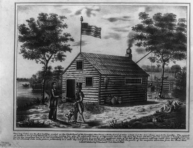 Harrison log cabin