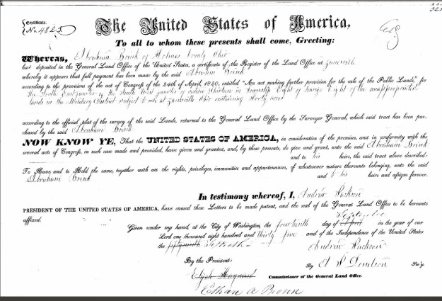 Land Office Record