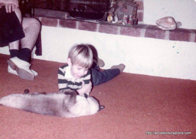 Eric Price and Chat Xmas 1981, Paseo Cimarron, Tucson