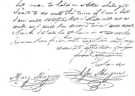 Jesse's letter form Palmyra