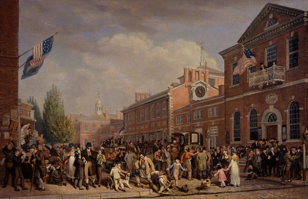 painting of election day 1815