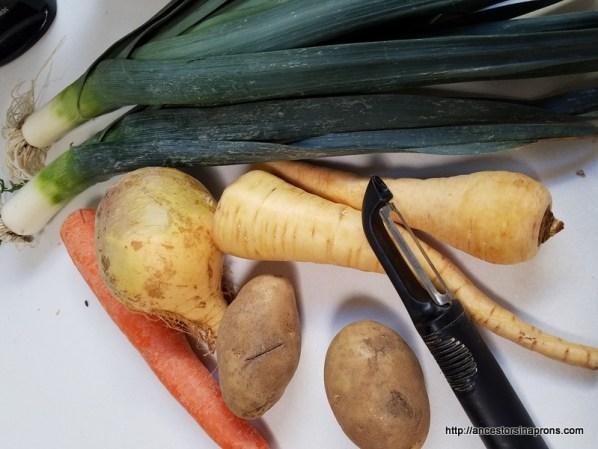 Vegetables for Welsh Cawl