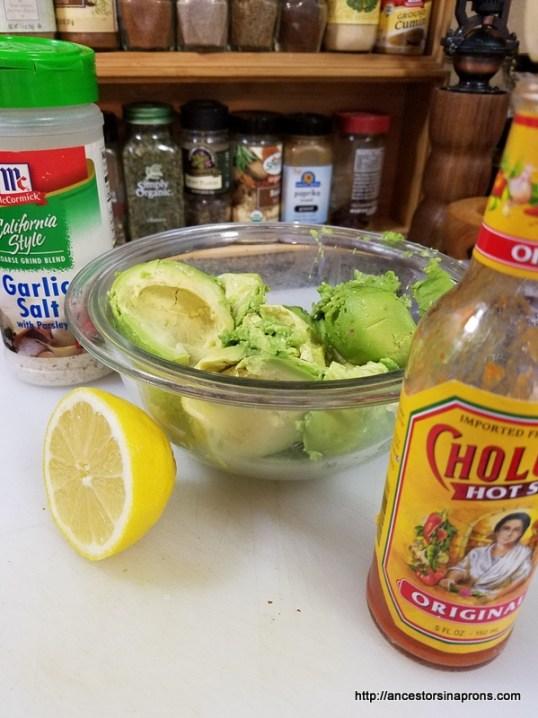 Avocado Guacamole Ingredients