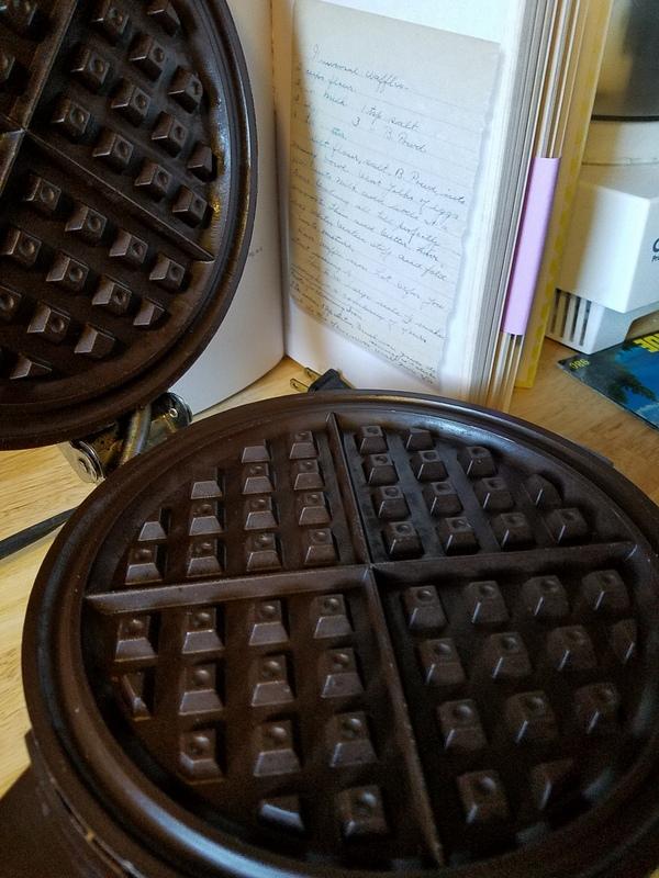waffle iron and recipe