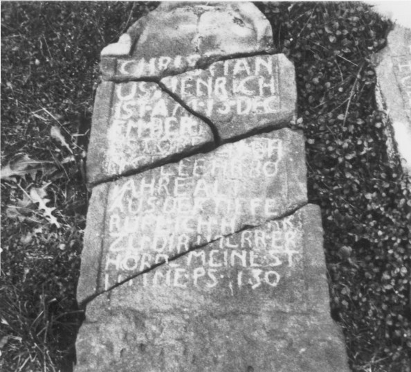 Christian Henrich Sr. Tombstone