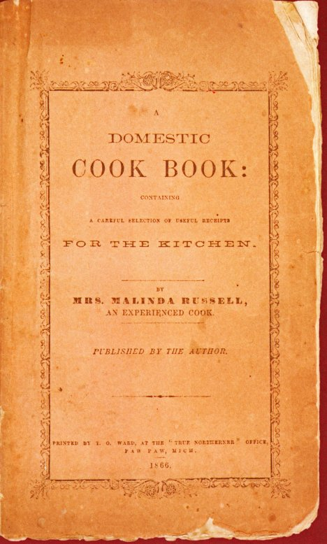 Malinda Russell Cook Book