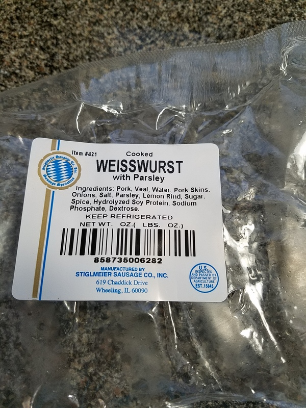 weisswurst ingredients