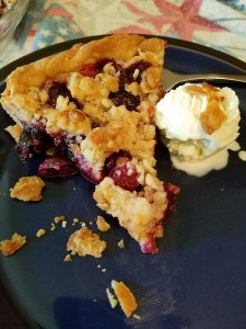 Fresh Sweet Cherry Pie With Streusel Topping