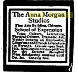 Ad for Anna Morgan Studio