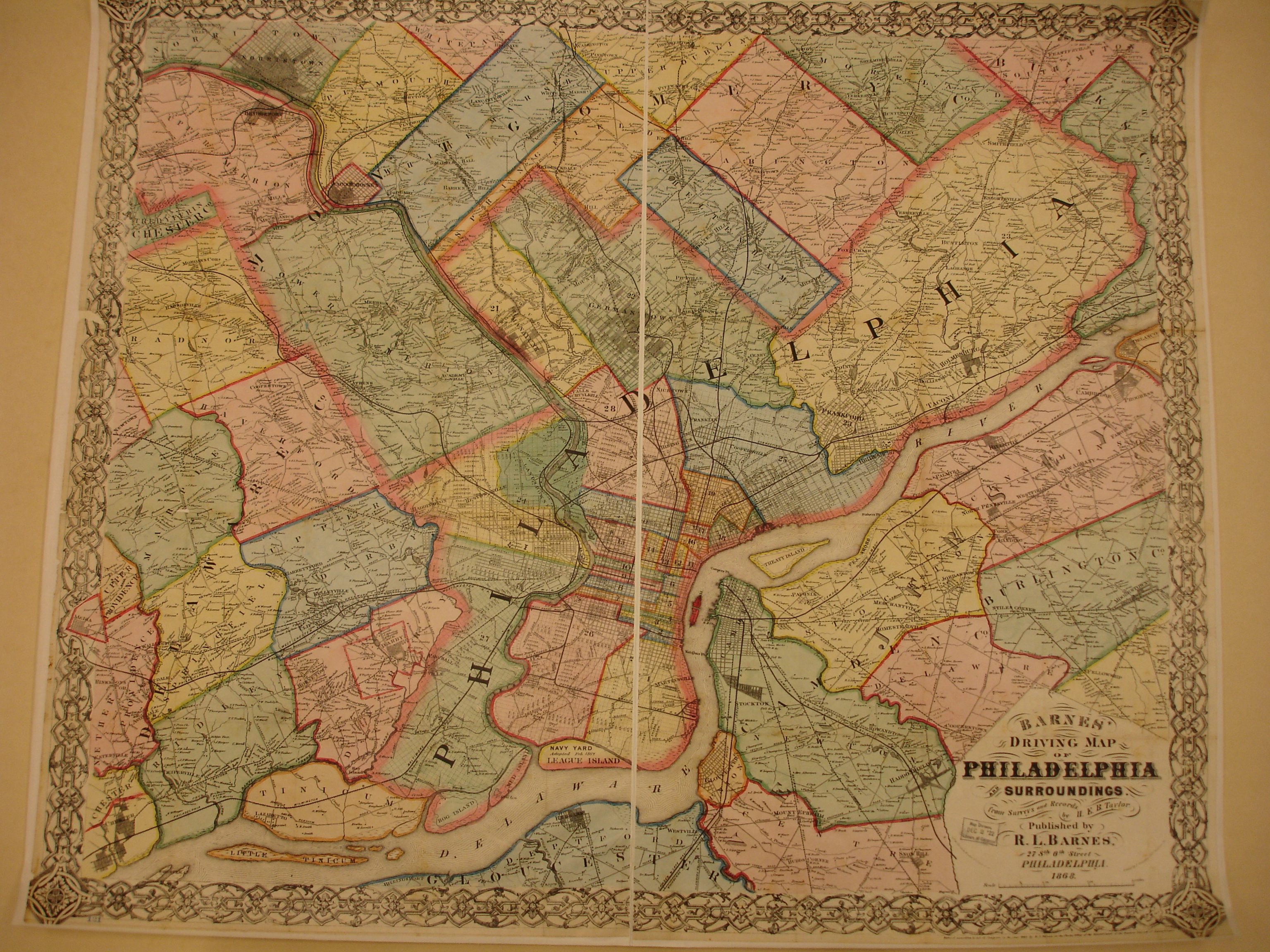 Ancestor Tracks  Philadelphia Area Resources Overview of 1868 Map