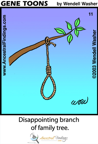 Disappointing Branch of Family Tree (Genetoons Cartoon #11)