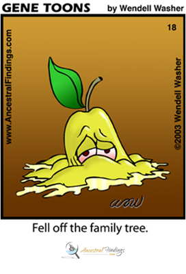 Fell Off The Family Tree (Genetoons Cartoon #18)