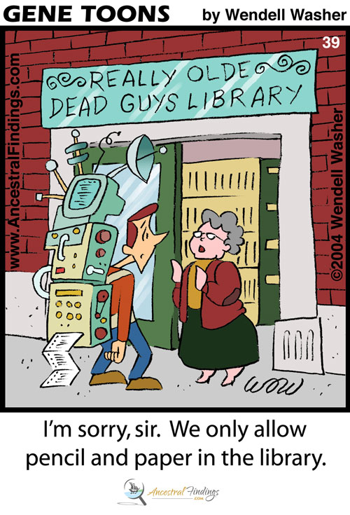 I'm Sorry, Sir. We Only Allow Pencil and Paper in the Library (Genetoons #39)